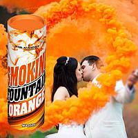 Оранжевый дым для фотосессии