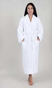 Халат махровый Lotus отельный белый ХL (380 гр/м2)