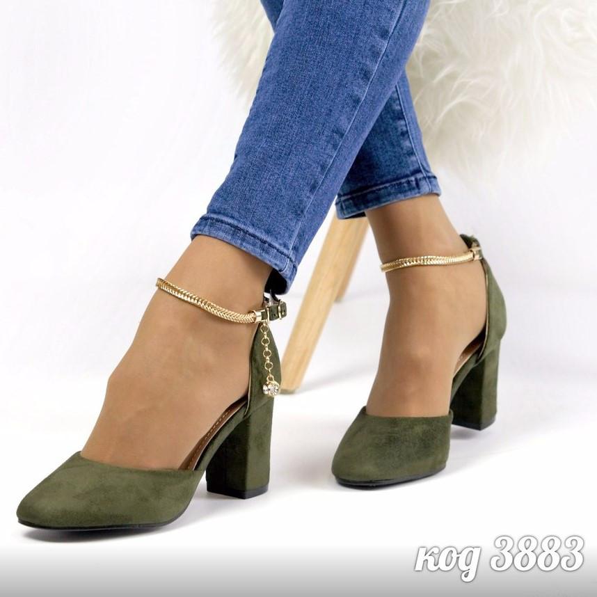 8da0a162d331 Туфли женские на удобном каблуке с золотым ремешком  продажа, цена в ...