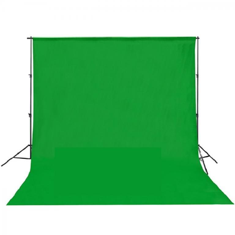 Тканинний однотонний фон 3 x 6 м (зелений) (MB120-CG) Chromakey