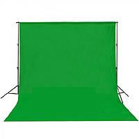 Тканинний однотонний фон 3 x 6 м (зелений) (MB120-CG) Chromakey, фото 1