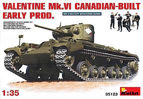 Британский пехотный танк Valentine Mk. VI Canadian. 1/35 MINIART 35123