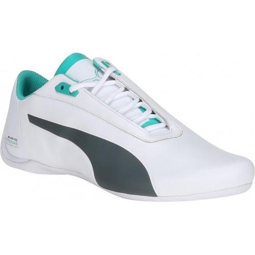 Мужские кроссовки Puma Mercedes.Кожа,белые