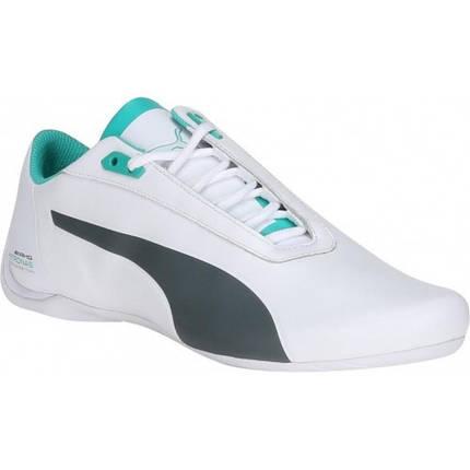 Мужские кроссовки Puma Mercedes.Кожа,белые, фото 2