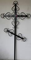 Кованый ритуальный крест 5