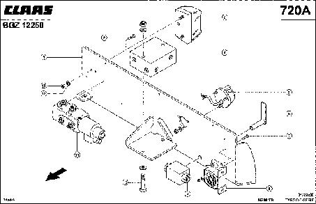 ЗАДНЯЯ СЕРВИСНАЯ ПЛАНКА - CLAAS TARGO C-SERIE (2)