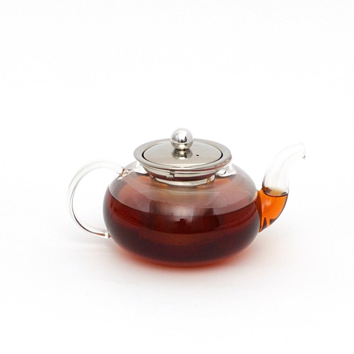 Чайник стеклянный с металлическим ситом, 600 мл. Заварочный чайник