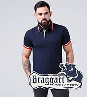Braggart | Футболка поло хлопок мужская 17093 синий
