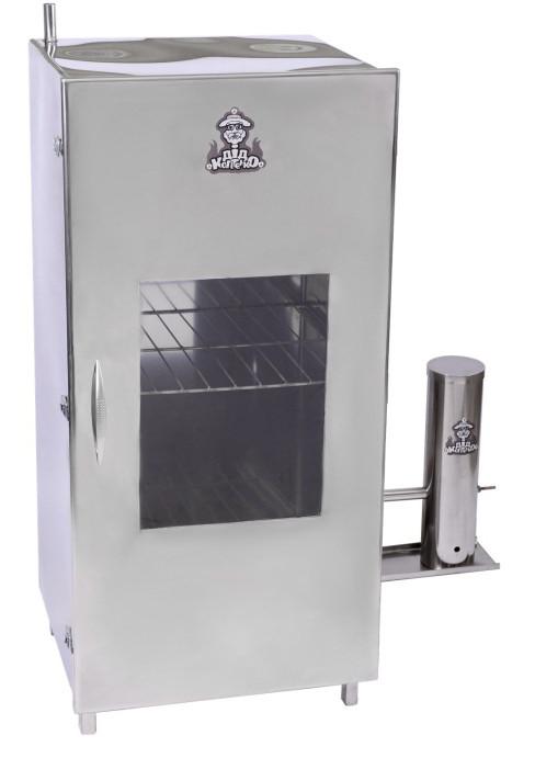 Коптильня холодного копчения из нержавеющей стали (высота 100 см) + 2 кг щепы