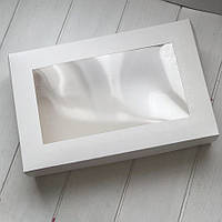 Коробка 23х15х6см. (с окошком белая)