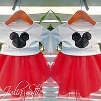 Детский костюм кофта и юбка микки маус