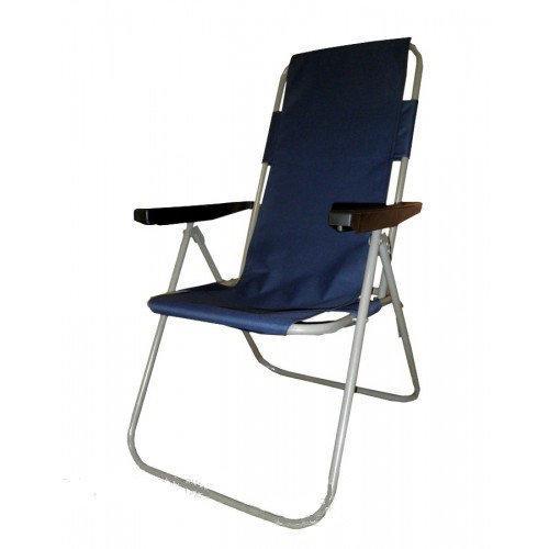 Туристическое кресло Мальта 92х50 см синее раскладное