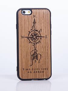 Деревянный Чехол для iPhone 6s, iPhone 6 с узором Компас