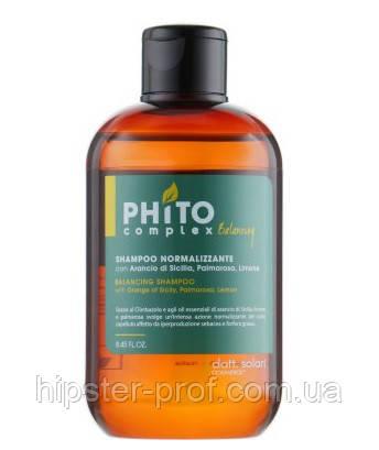 Балансуючий шампунь для жирної шкіри голови Dott. Solari Phito Complex Balancing Shampoo 250 ml