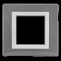 Рамка Unica Schneider Серый Техно/Белый, MGU2.002.858