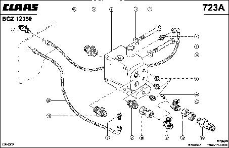 НАГНЕТАЮЩИЙ И ПРИОРИТЕТНЫЙ КЛАПАН - CLAAS TARGO C-SERIE (2)