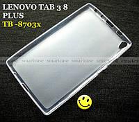 Полноразмерный прозрачный силиконовый чехол бампер Lenovo Tab 3 8 Plus tb-8703x, Lenovo P