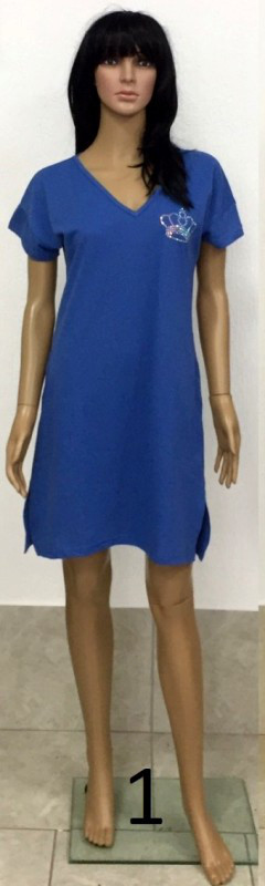 Платье-туника из трикотажа пике с коротким рукавом и карманами украшенная короной из страз 44-54 р Лакоста