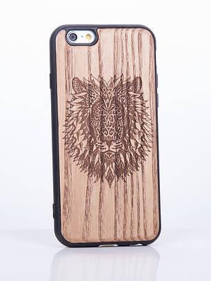 Деревянный Чехол для iPhone 6s, iPhone 6 с узором Лев