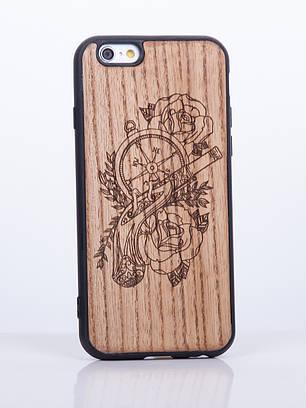 Деревянный Чехол для iPhone 6s, iPhone 6 с узором Пистоль
