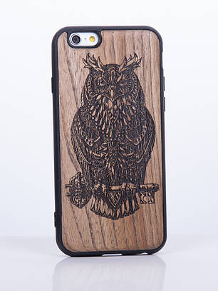 Деревянный Чехол для iPhone 6s, iPhone 6 с узором Сова