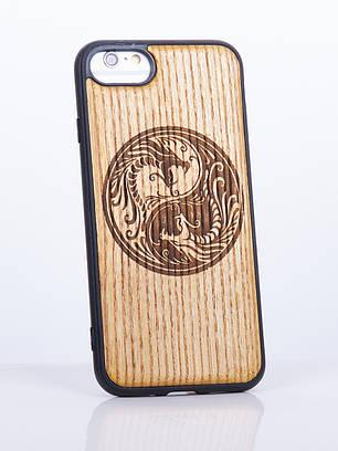 Деревянный Чехол для iPhone 7 с узором Инь и Янь