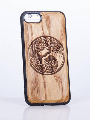 Деревянный Чехол для iPhone 7 с узором Инь и Янь 2
