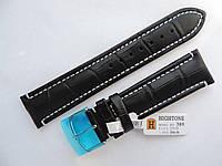 Кожаный ремешок для часов Hightone 22mm черный HT-389