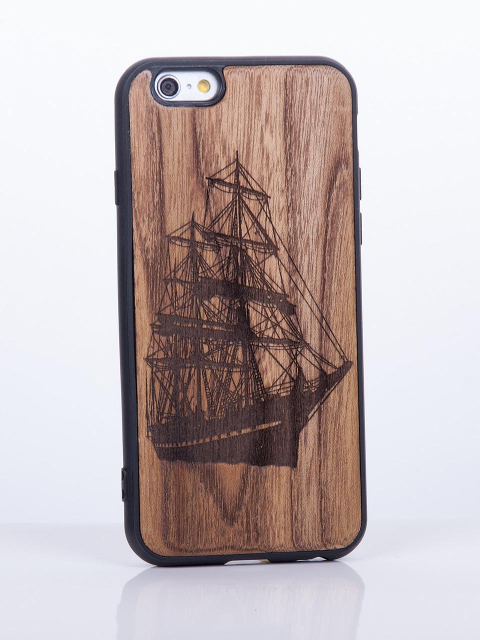 Деревянный Чехол для iPhone 7 Plus с узором Корабль