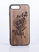 Деревянный Чехол для iPhone 7 Plus с узором Роза