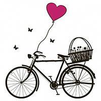 Интерьерная наклейка Bicycle Такая композиция сразу напомнит вам о том состоянии легкости Код: КГ4221
