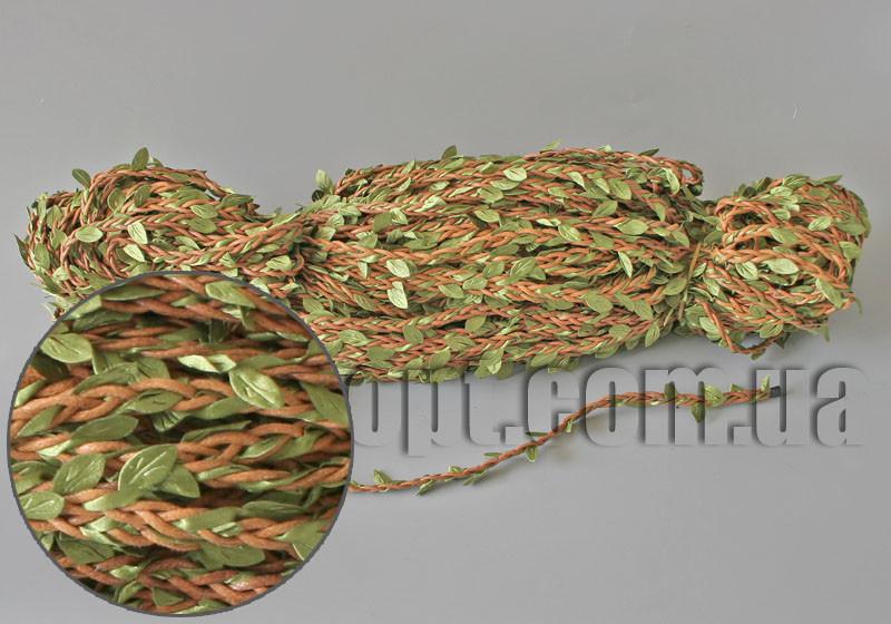 Веревка коричневая с вплетенной лианой 10м