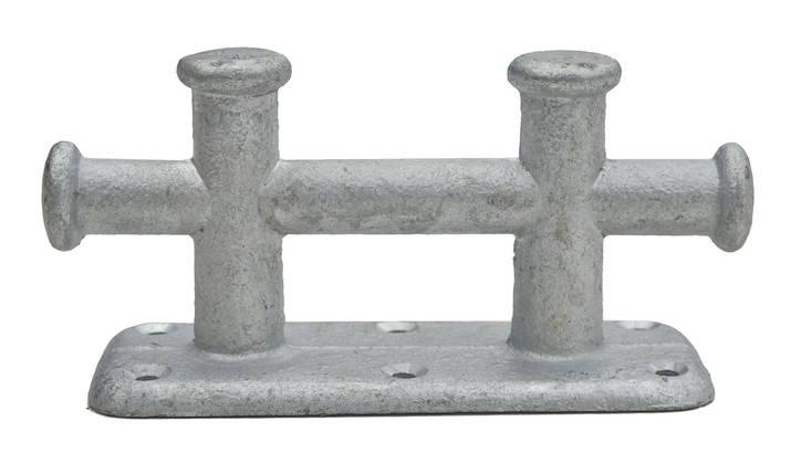 Причальный Кнехт для швартовки двойной оцинкованный 235х90мм, фото 2