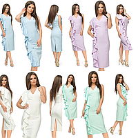 Женское элегантное платье _ норма_ в ассортименте цветов_ Турция_ оптом