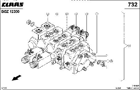 КОНТРОЛЬНЫЙ КЛАПАН, (4) - CLAAS TARGO C-SERIE