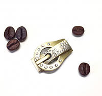 Застежка магнитная в форме пряжки золотистая 31х22х5мм