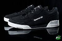 Мужские весенние кроссовки черные Reebook black (реплика, фото 1