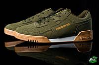 Молодежные кроссовки весенние Олива Reebook (реплика), фото 1