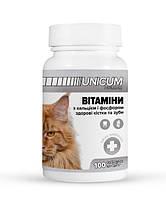 Витамины UNICUM premium для котов с кальцием и фосфором для зубов и костей
