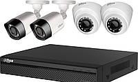 Комплект HD наблюдения на 4 камеры Dahua KIT-CV4FHD-2B/2D, 2 Мп, фото 1