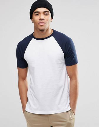 Мужская футболка blue&white, фото 2