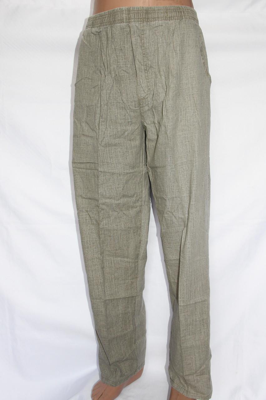 Мужские летние льняные брюки(БАТАЛ). Оптовая продажа со склада на 7км.