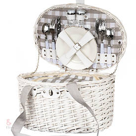 Плетеная корзина для пикника 2 персоны с термосумкой