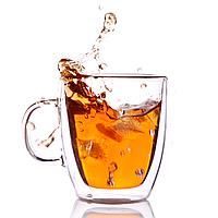 Стеклянная чашка с двойными стенками (350 мл), фото 1