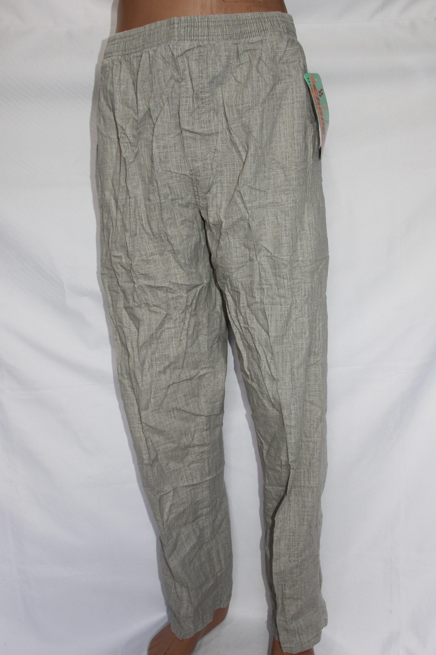 Мужские летние льняные брюки(норма). Оптовая продажа со склада на 7км.