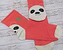 Носки без резинки (антиварикозные) с рисунком на пятке р. 38-40 (25) Украина оранжевые, фото 3