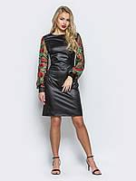 4875bfd8329 Элегантное женское приталенное платье с рукавами из сетки с вышивкой 90290