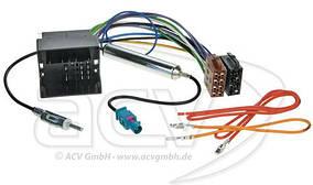 Переходник ISO-1324-46 с антенным адаптером (Audi, Seat, Skoda, VW)