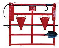 Щит пожарный открытого типа с комплектацией (лом/багор/2 ведра/лопата/топор с резиновой ручкой
