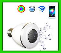 LED лампочка Bluetooth с динамиком 7 цветов E27